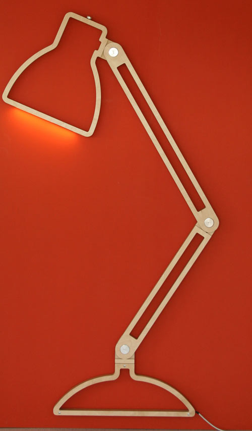 Lampe design silhouette