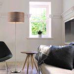 Lampadaire salon bois et metal
