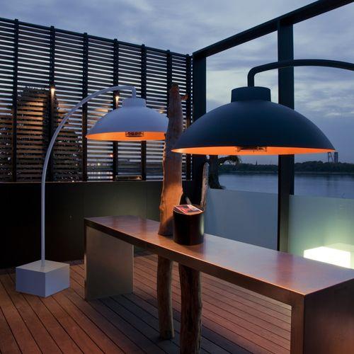 Lampe chauffante exterieur design