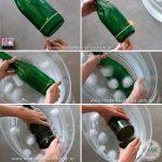Lampe de chevet avec une bouteille en verre