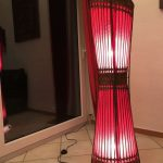 Lampe de salon design rouge