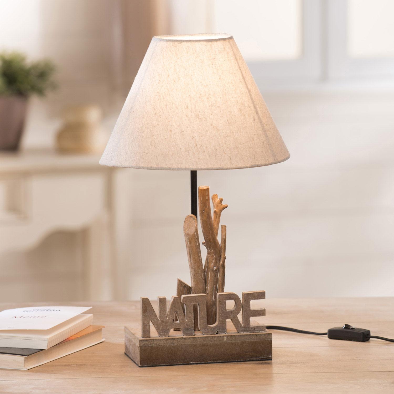 Lampe poser galets design