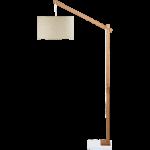 Lampadaire bois clair
