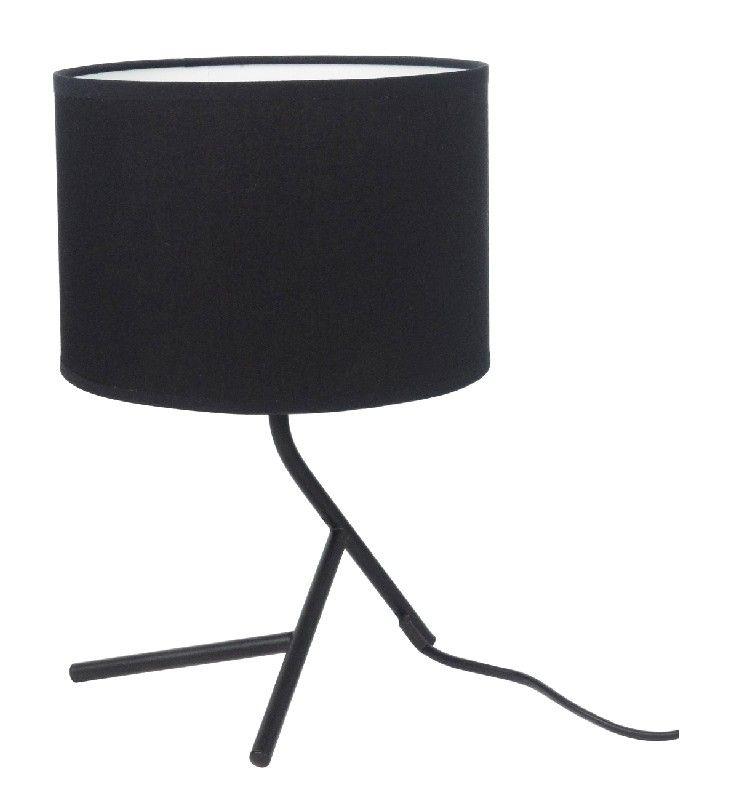 Lampe à poser noir design