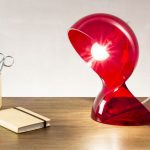 Lampe de chevet building rouge