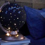 Lampe de chevet globe terrestre