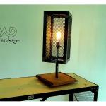 Lampe bois acier design