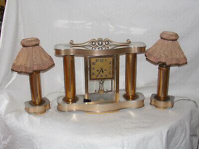 Lampe de chevet art deco bronze