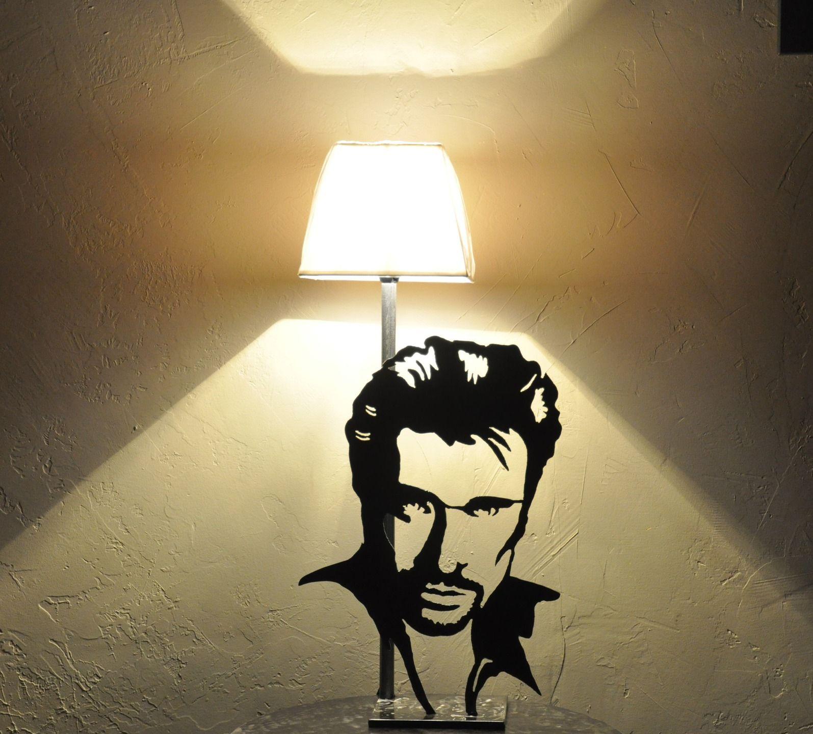Lampe de chevet johnny hallyday