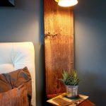 Lampe de chevet original bois