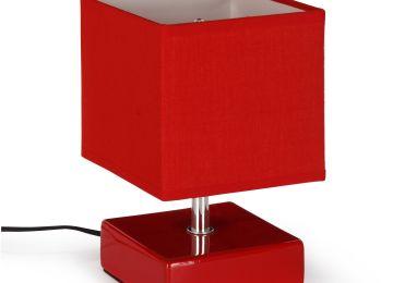 Lampe de chevet rouge design