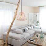 Lampe design bois flotté