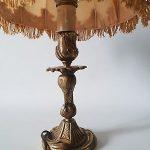 Lampe de chevet ancienne en bronze