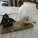 Lampe de chevet ancienne bronze