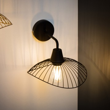 Lampe design metallique