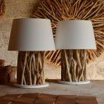 Idées lampadaire en bois flotté