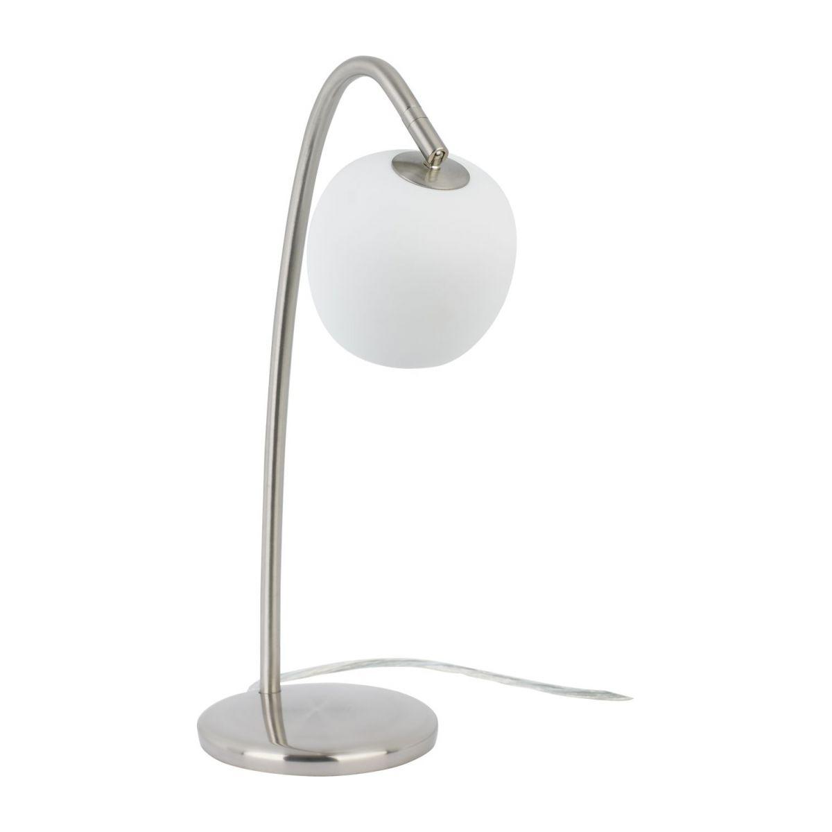 Lampe de chevet metal brosse