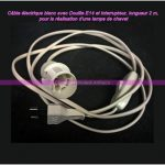 Cordon electrique pour lampe de chevet