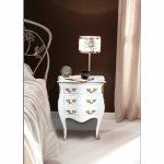 Lampe de chevet baroque blanc