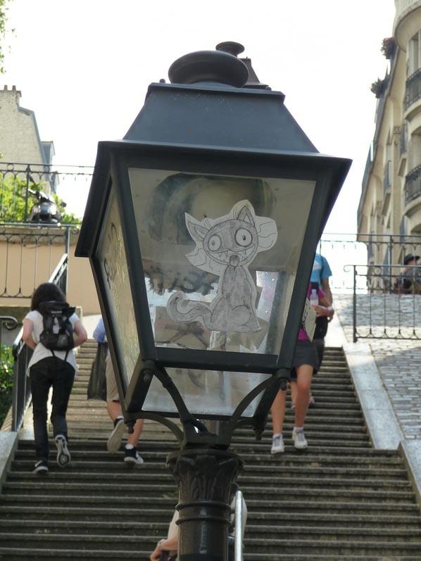 Street art lampadaire