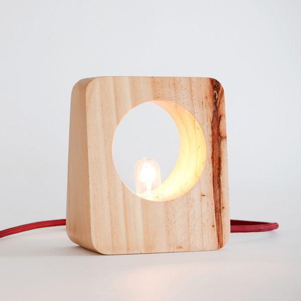 Wood design lampe
