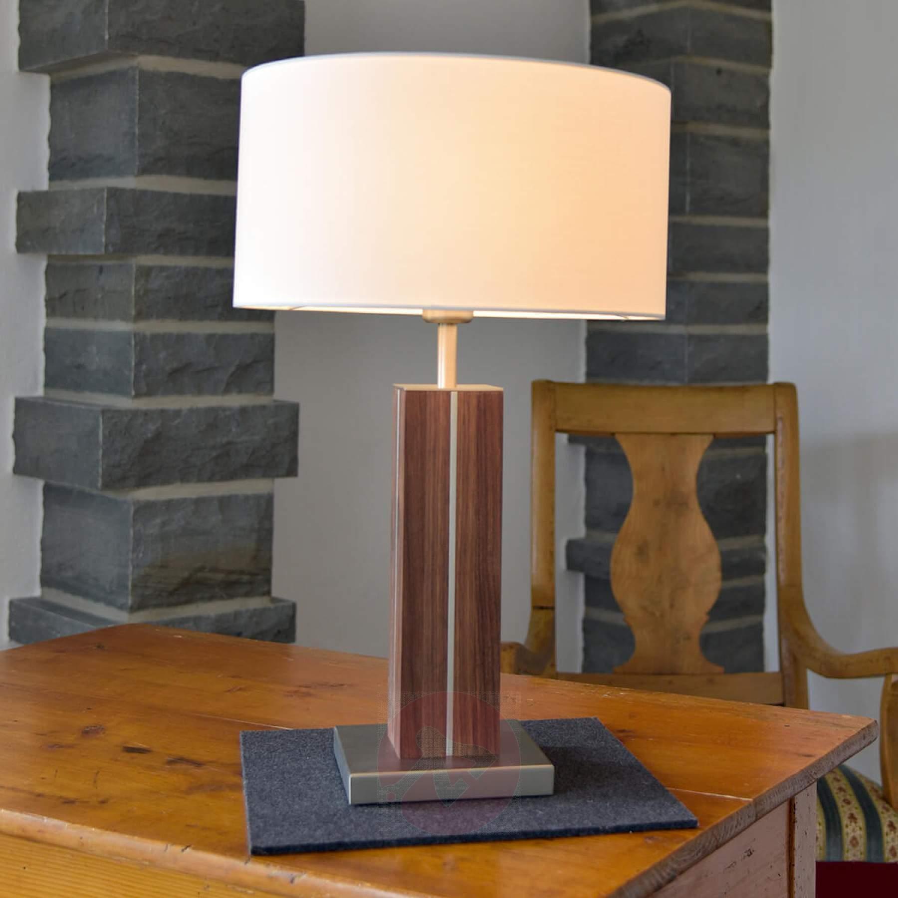 Lampe a poser design bois