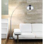 Lampe sur pied design chrome