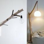 Faire un lampadaire avec un tronc d'arbre