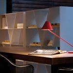 Lampe de bureau rouge design