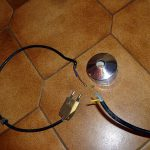 Interrupteur pied pour lampadaire