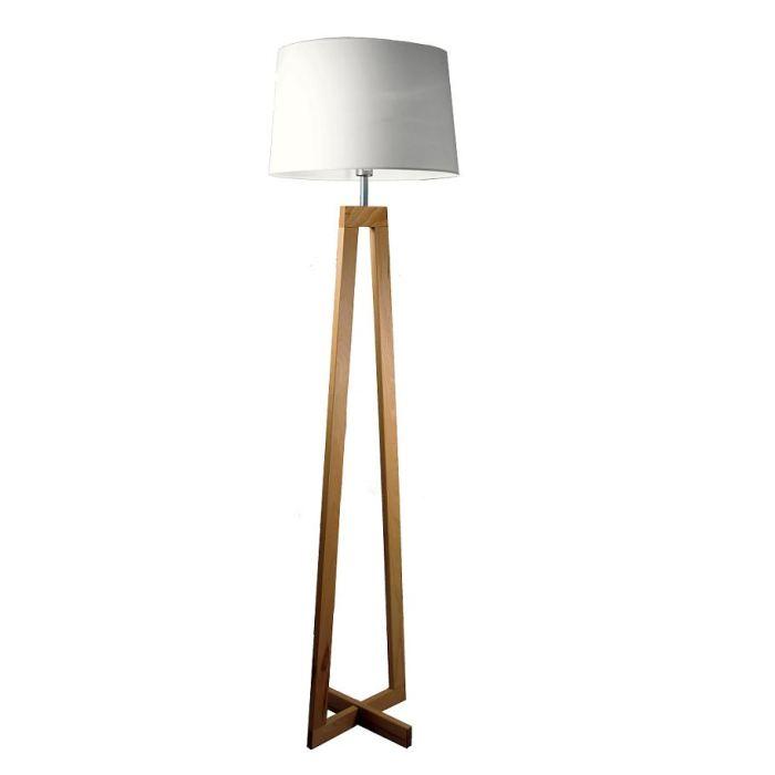 Lampe sur pied design bois