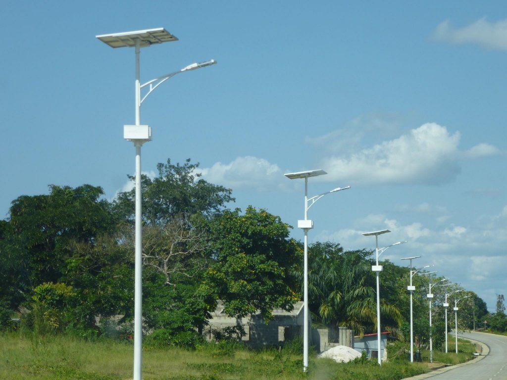 Lampadaire solaire public