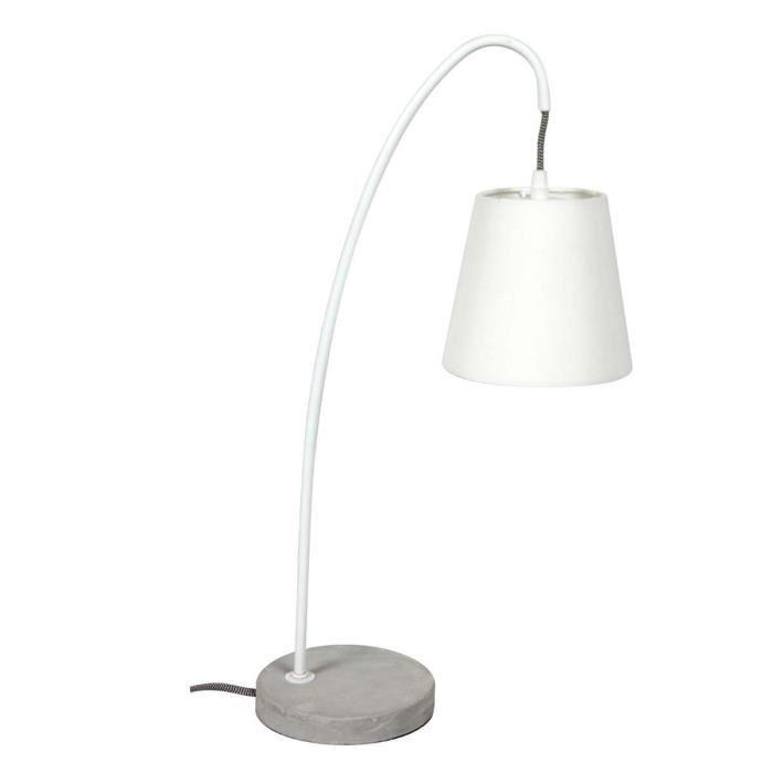 Lampe à poser design béton