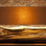 Lampe a poser en bois design