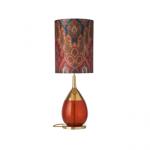 Lampe a poser rouge design
