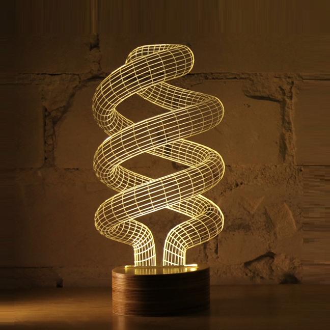 Lampe led design a poser