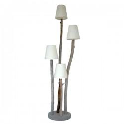 Lampadaire bois flotté design