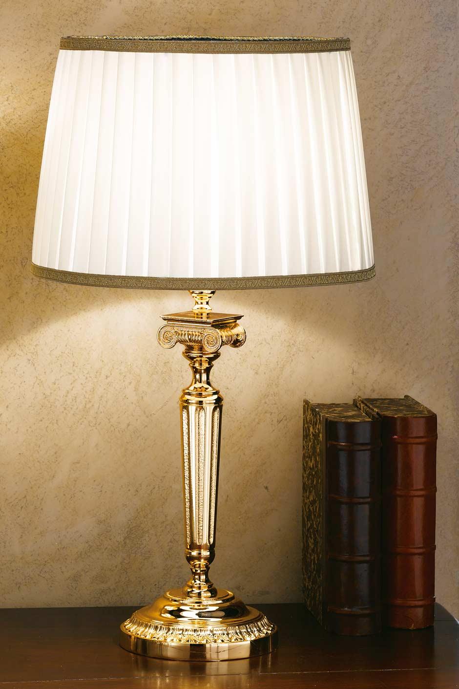 Lampe de chevet bronze blanc