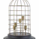 Lampe de chevet cage à oiseaux