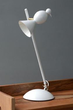 Lampe sur pied design blanc