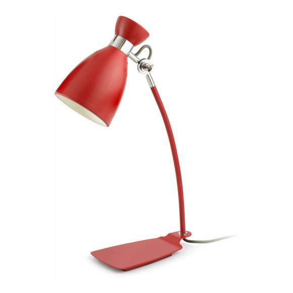 Lampe de bureau design rouge