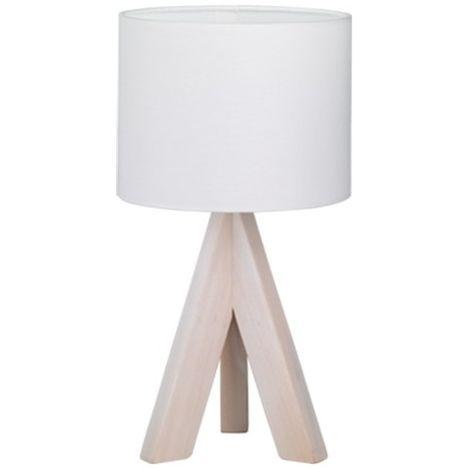 Lampe de chevet abat jour blanc