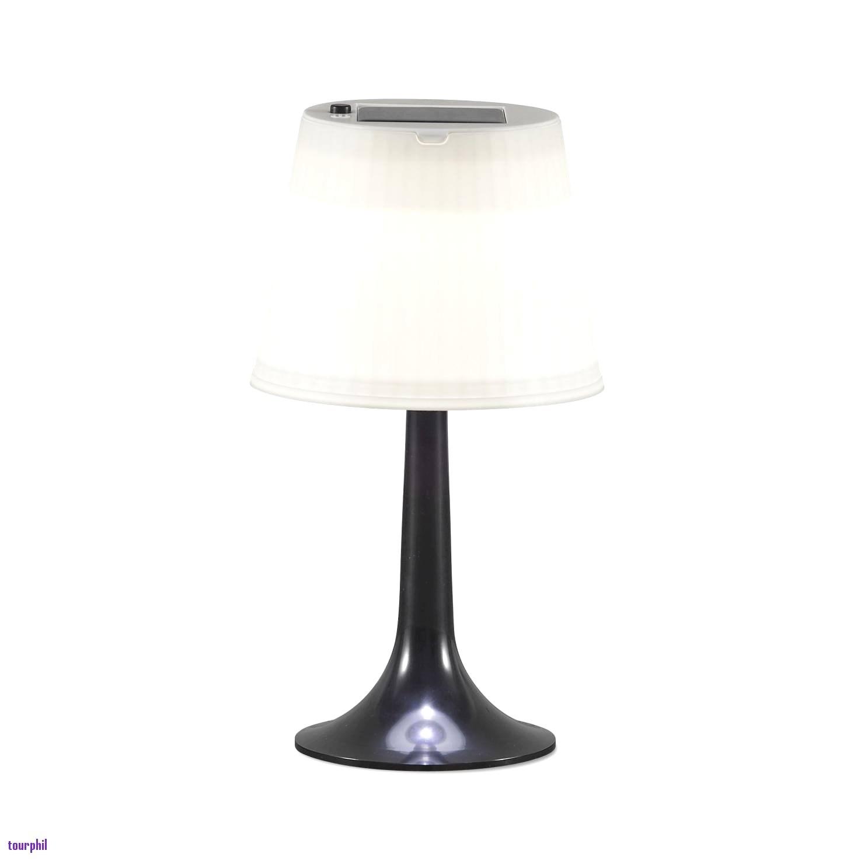 Lampe de chevet noire et bois