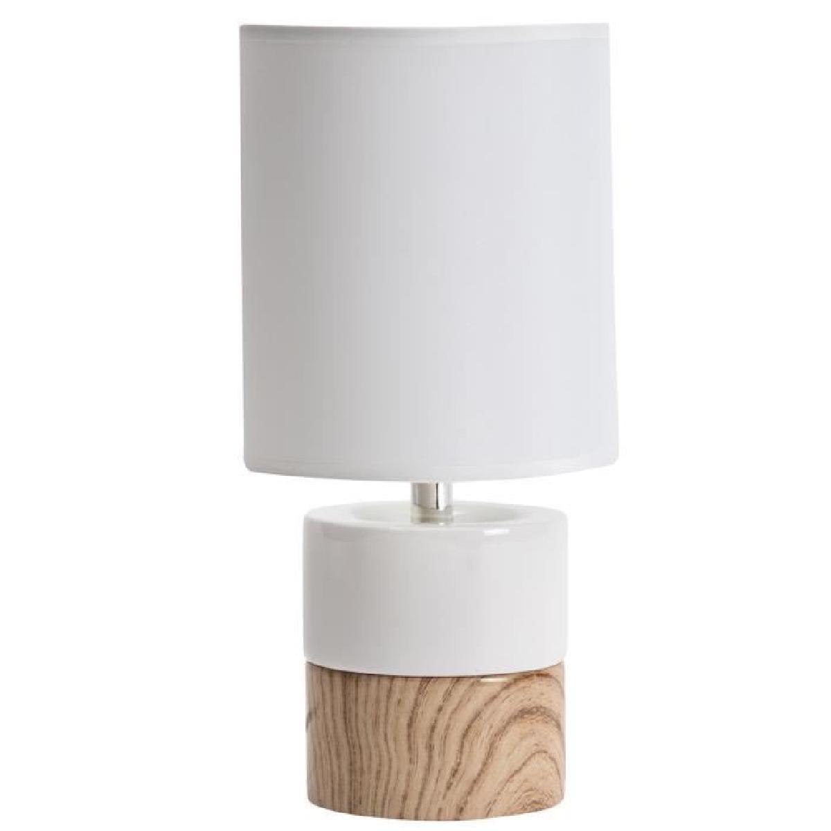 Lampe de chevet blanche bois