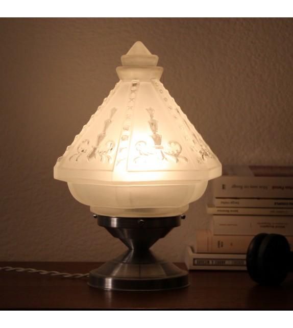 Lampe de chevet ancienne verre