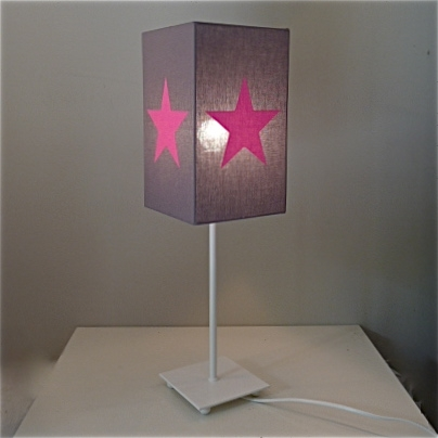 Lampe de chevet fille rose