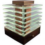 Lampe design bois et verre