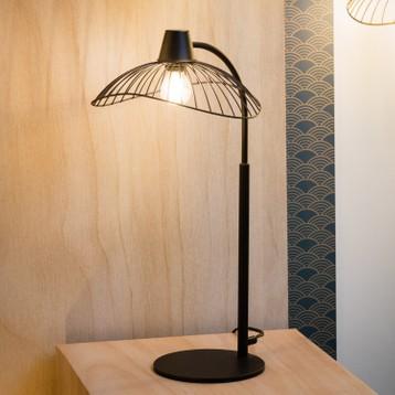 Lampe de chevet bois et métal