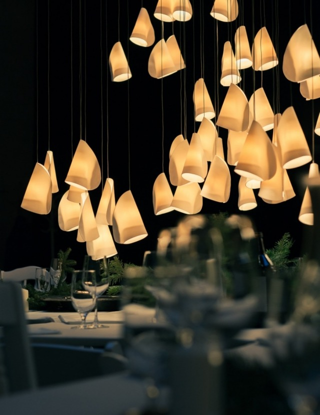 Lampe design porcelaine