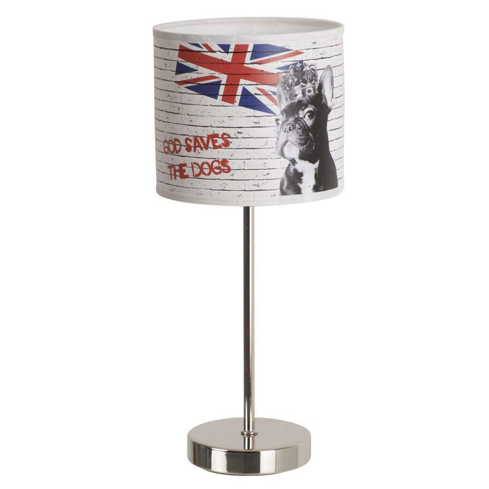 Lampe de chevet avec drapeau anglais
